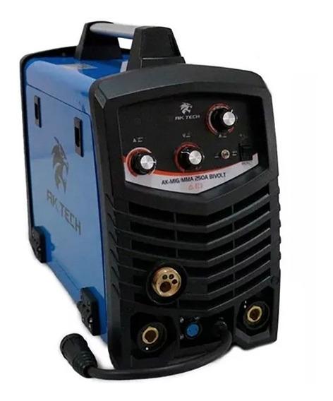 Máquina De Solda Usk Aktech Mig Mma Eletrodo 250a Bivolt