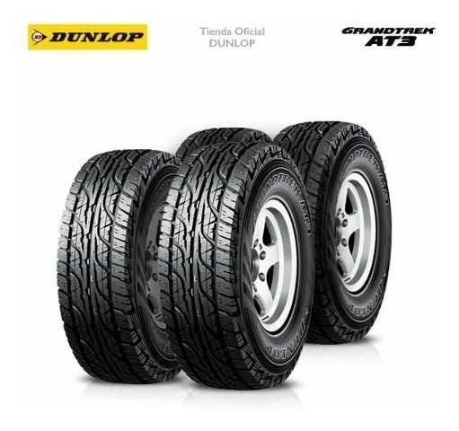 Kit X4 245/65 R17 Dunlop Grandtrek At3 + Tienda Oficial
