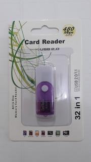 Leitor Cartão Micro Sd Usb 2.0 Adaptador Memória 4 Em 1