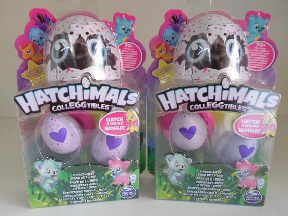 Hatchimals 2 Blisters Com 2 Ovos + Ninho Em Cada. Original