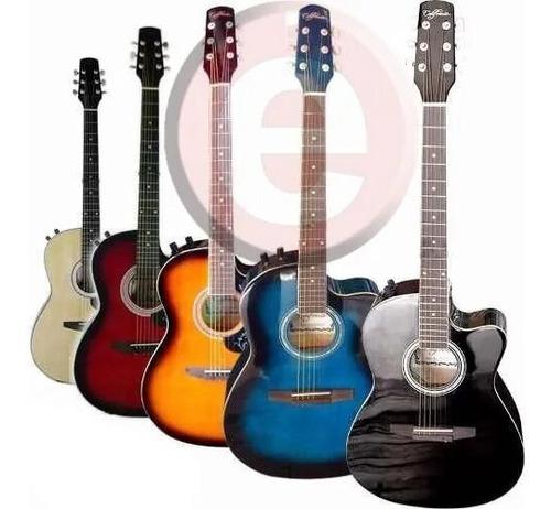 Guitarra Electroacústica Importada Con Alma Y Mástil Delgad