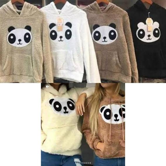 Blusa De Frio Canguru Urso Panda Com Capuz