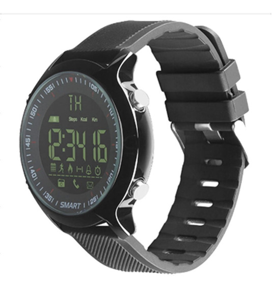 Smart Watch Pantalla Digital Podometro Bluetooth Ex18 Negro