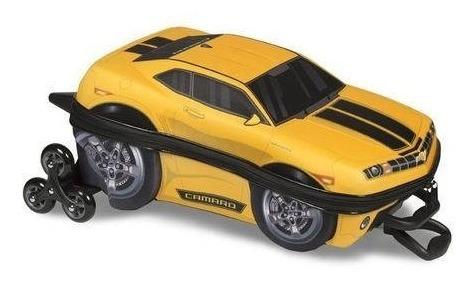 Mochilete Camaro Amarelo 3d Mochila Lancheira Carro Escolar