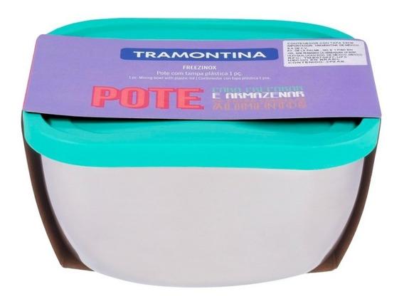 Toper Contenedor 23 Cm Con Tapa Aqua Cap 4 L 2pzs Tramontina