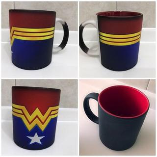 Taza Mágica Wonder Woman Mujer Maravilla Justice League