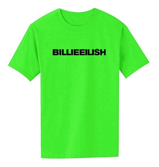 Remera Billie Eilish Verde Neon Logo