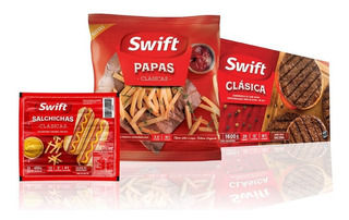 Combo Ahorro Swift 2 Packs De Salchichas Papas Hamburguesas