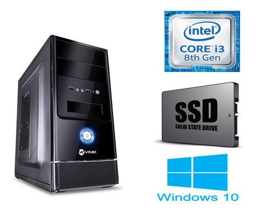 Pc Core I3 8100 8ª Geração, Com 4gb De Ram, Ssd 120gb, Win10