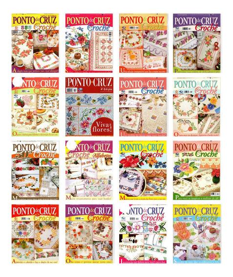 Kit 16 Revistas Ponto De Cruz & Crochê Central Ed. Lote 1