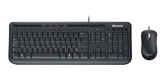 Teclado Alambrico Con Mouse Óptico Microsoft Tienda F