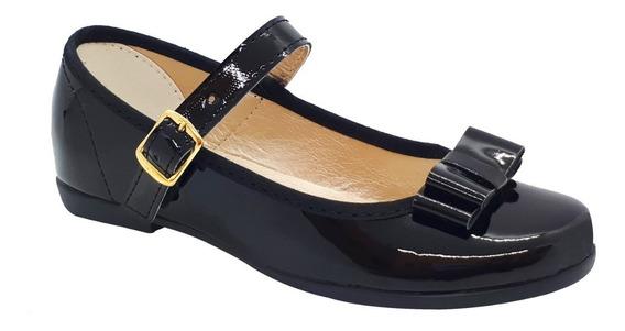 Zapato Guillermina Bautismo/comunión/fiesta - Nena Negro