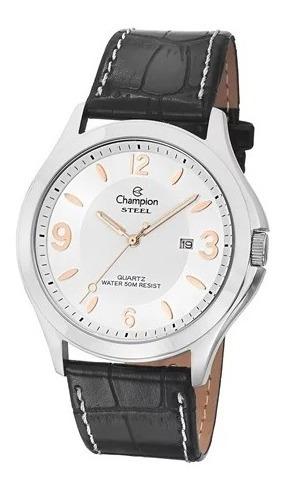 Relógio Champion Masculino Couro Ca21222d Novo Original