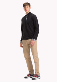 Long Sleeve Zip Polo - Tommy Hilfiger - 1218820 - Negro