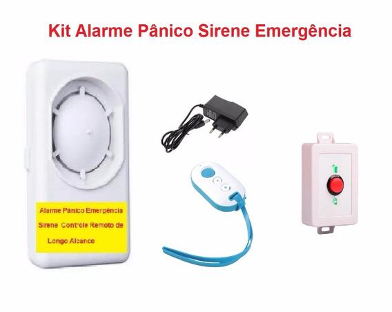 Alarme Pne Pânico Emergência Sirene Controle Remoto