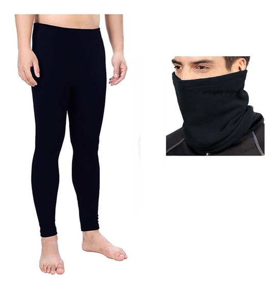 Ropa Termica Pantalon Hombre Y Bandana / Cuello Fleece Polar