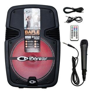 Bafle Bluetooth 15 Pulgadas Karaoke Recargable Fm, Sd, Msa-5715 Mitzu Full