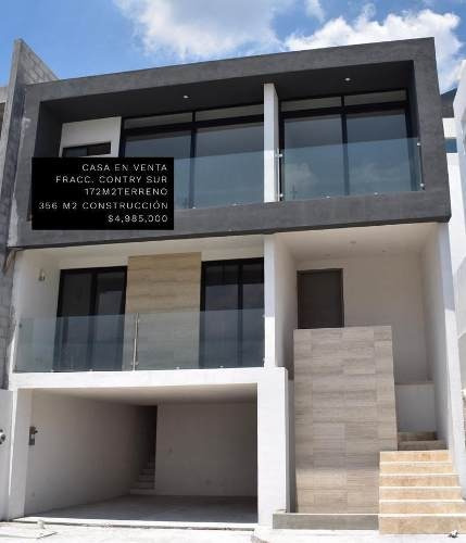 Casa En Venta Nueva En Contry Sur -al Sur De Monterrey (aah)