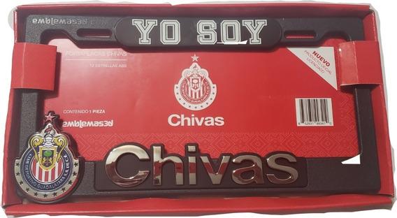 Portaplacas Chivas 12 Estrellas Abs Autos Camionetas Pick Up