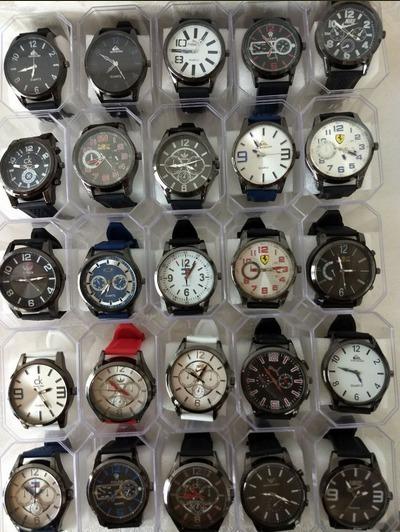 Kit 10 Relógio Masculinos Multi Marcas Promoção Do Dia