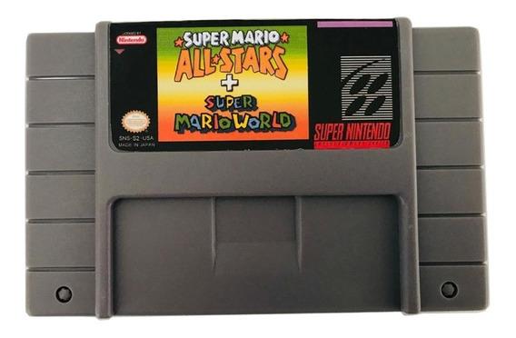 Cartucho Super Nintendo Mario Allstar + Super Mario World