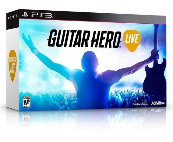 Guitar Hero Live Guitar Bundle Ps3 Mídia Física
