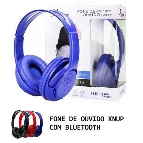 Kit 05 Headphone Bluetooth Fone De Ouvido Usb Sd Rádio Fm