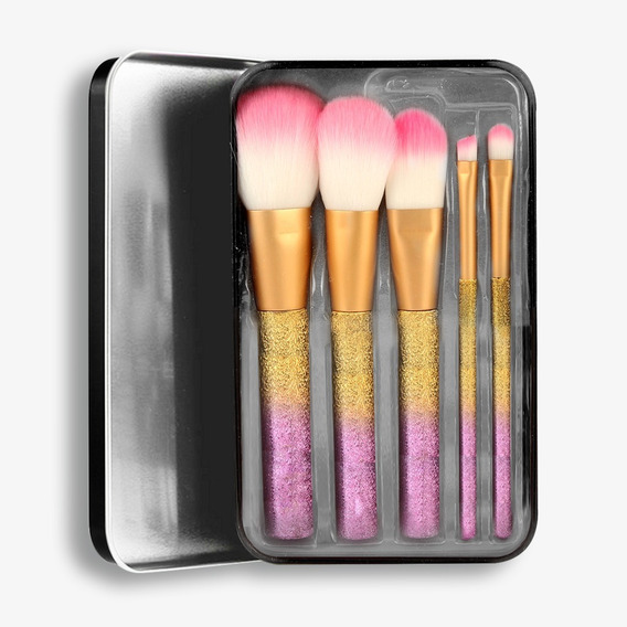 Bys Cosmetics Makeup Brushes In Keepsake Tin Sparkle Co/xpzs