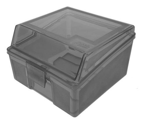 Caja Organizadora Multiusos De Plástico Chica Color Humo