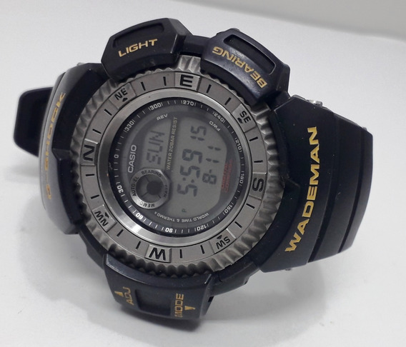 Casio G-shock Wademan Dw-9800 Titanium Compass Temp Anos 90