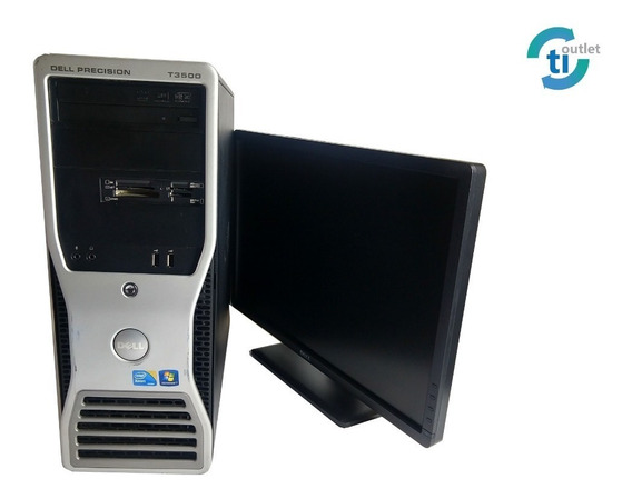 Cpu Work T3500 Dell 8gb Win 7 +monitor 22pol +tecl +mouse