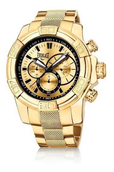 Relógio Cronografo Everlast E648 Dourado