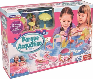 Parque Acuático Juego De Agua Con Muñecas Home Play Lionels