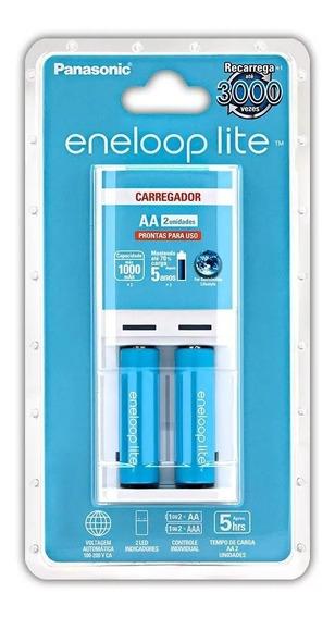 Carregador Panasonic Eneloop Lite (carregador + 2 Pilhas Aa)