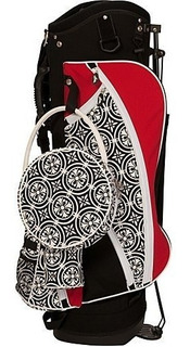 Sassy Caddy Bolso Para Mujer Swanky Golf Stand, Cherry Red