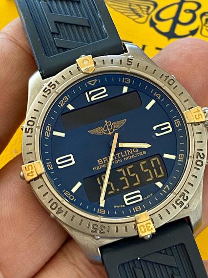 Breitling Aerospace Titanium Com Cx E Manu 12x S/juros Rolex