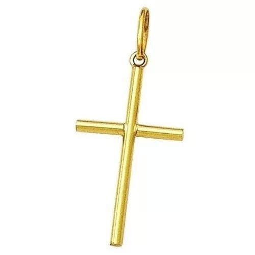 Pingente Masculino Cruz Crucifixo Em Ouro 18k