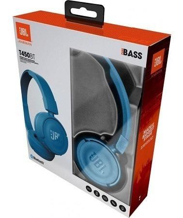 Fone De Ouvido Jbl On Ear Headphone Azul T450