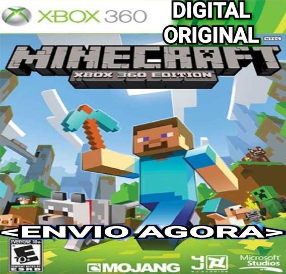 Minecraft Xbox 360 Online Digital Original Envio Imediato