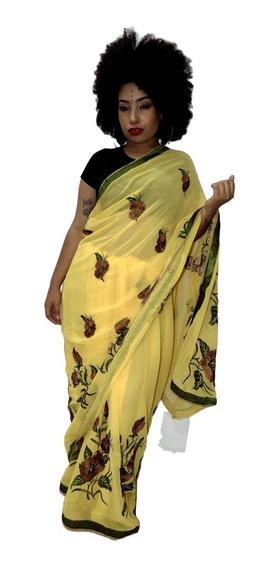 Sari Saree Indiano Importado Índia Original! Pronta Entrega.
