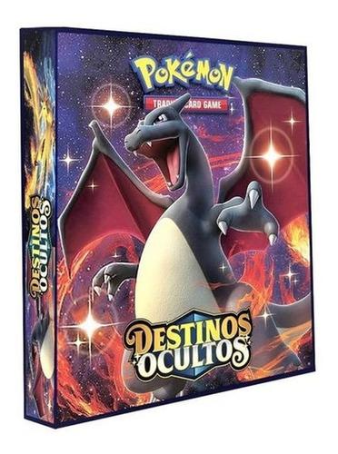 Imagem 1 de 6 de Álbum Pokémon Fichário Destinos Ocultos + 10 Folhas 9 Bolsos