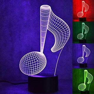 Lampara De Mesa De Piano Con Luz Nocturna 3d Iluminacion Opt