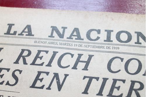 Lote 31 Diarios Antiguos La Nacion Segunda Guerra Mundial