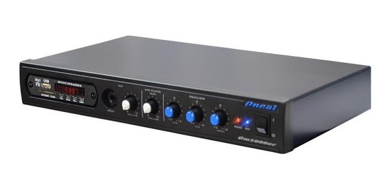 Amplificador Oneal Om-2000ec 60w Usb Sd Aux Bluetooth Rádio