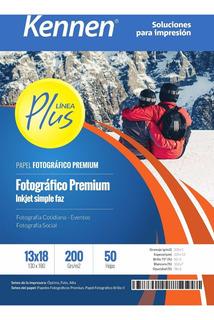 Papel Foto 13x18 Kennen Premium 200gr 150 Hojas Waterproof