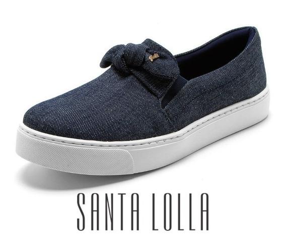 Tênis Santa Lolla Slip On Jeans - 01ac