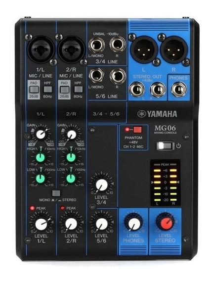 Mesa De Som Yamaha Mg06 6 Canais
