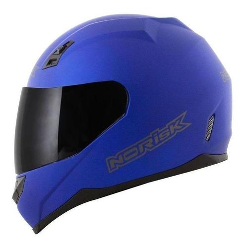 Capacete para moto integral Norisk FF391 Monocolor matt blue tamanho 56