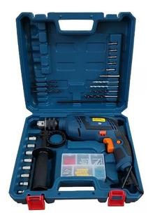 Furadeira Parafusadeira De Impacto 710w Com Kit Tipo Bosch