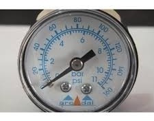 Manômetro Horizontal Caixa 50 Mm Rosca 1/4 Npt 160 Psi
